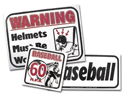 Pitching Cage Safety Signs
