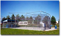 outdoor batting cage systems